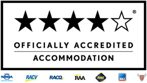 Officially accredited 4-star rating